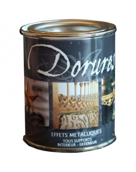 Pot contenant 125ml de dorure argent