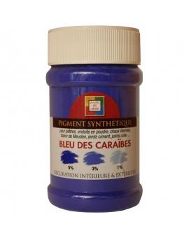 Pot contenant 250ml de pigment bleu des Caraïbes