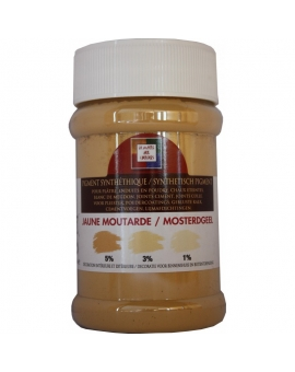 Pot contenant 250ml de pigment jaune Moutarde