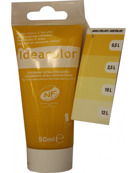 Tube contenant 50ml de colorant Ideacolor Jaune Brillant 2002