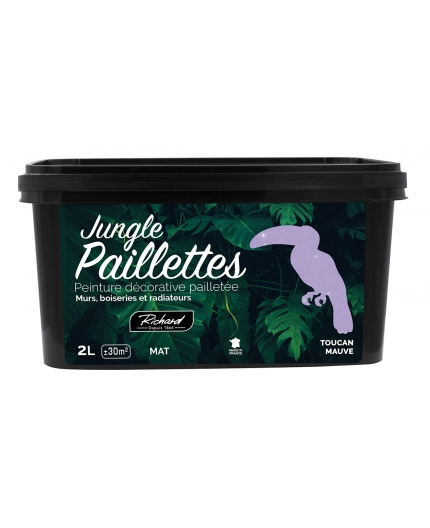 Peinture à Effet Paillette Mauve Jungle Colorants Pigments Fr