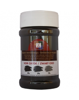 Pot contenant 250ml de pigment noir oxyde