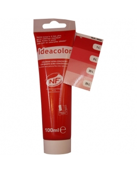 Tube contenant 100ml de colorant IdéaColor Rouge 2014.