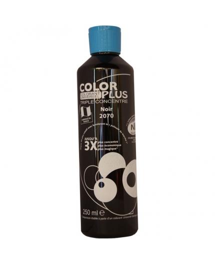 Bouteille contenant 250ml de colorant ColorPlus Noir.