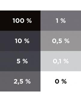 Aplat dégradé du colorant ColorPlus Noir 2070.