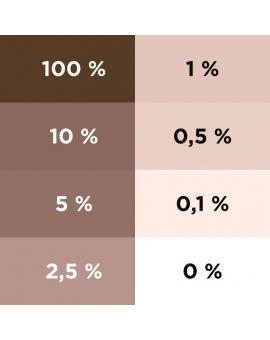 Aplat dégradé du colorant ColorPlus ombre calcinée 2055.