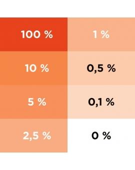 Aplat dégradé du colorant ColorPlus orange 2013.