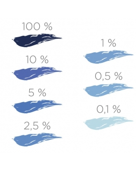 Nuancier du colorant ColorPlus bleu outremer 2029.