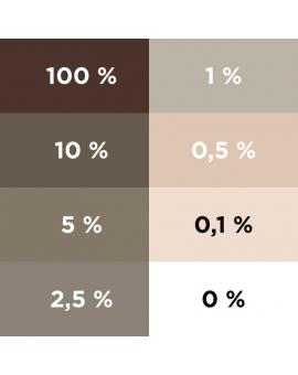 Aplat dégradé du colorant ColorPlus chocolat glacé 2057.
