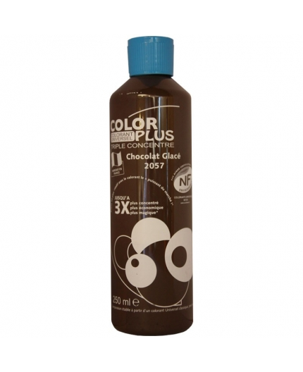 Bouteille contenant 250ml de colorant ColorPlus chocolat glacé 2057.