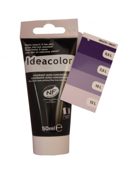 Tube contenant 50ml de colorant IdéaColor violet 2026.