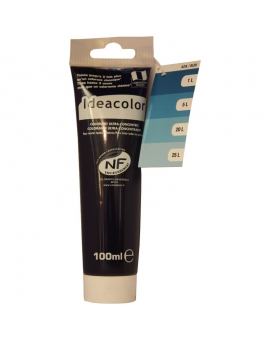 Tube contenant 100ml de colorant IdéaColor bleu 2027.