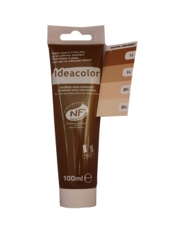 Tube contenant 100ml de colorant IdéaColor sienne naturelle 2052..