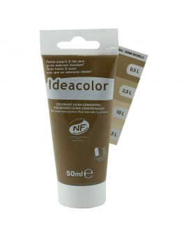 Tube contenant 50ml de colorant IdéaColor sienne naturelle 2052.
