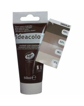 Tube contenant 50ml de colorant IdéaColor chocoalt glacé 2057.