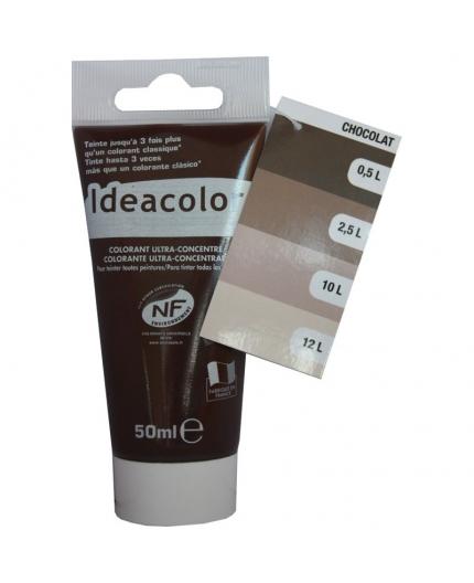 Tube contenant 50ml de colorant IdéaColor chocoalt glacé 2057.