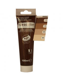 Tube contenant 100ml de colorant IdéaColor chocolat glacé 2057.