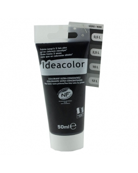 Tube contenant 50ml de colorant IdéaColor noir 2070.