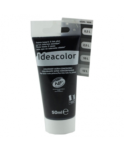 Tube contenant 50ml de colorant IdéaColor noir 2070.