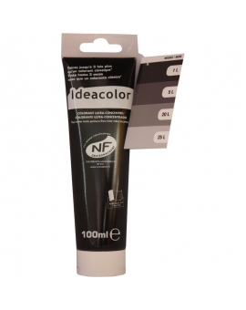 Tube contenant 100ml de colorant IdéaColor noir 2070.