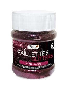 Pot de 80g de Paillettes Glitters Topaze