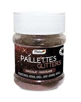 Pot de 80g de Paillettes Glitters Chocolat