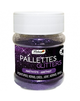 Pot de 80g de Paillettes Glitters Améthyste