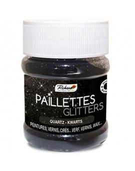 Pot de 80g de Paillettes Glitters Quartz
