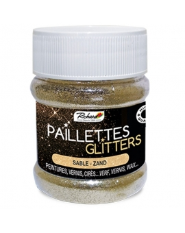 Pot de 80g de Paillettes Glitters Sable