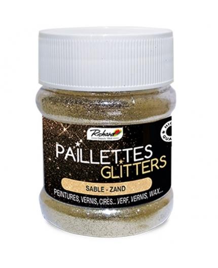 Pot de 80g de Paillettes Glitters Sable